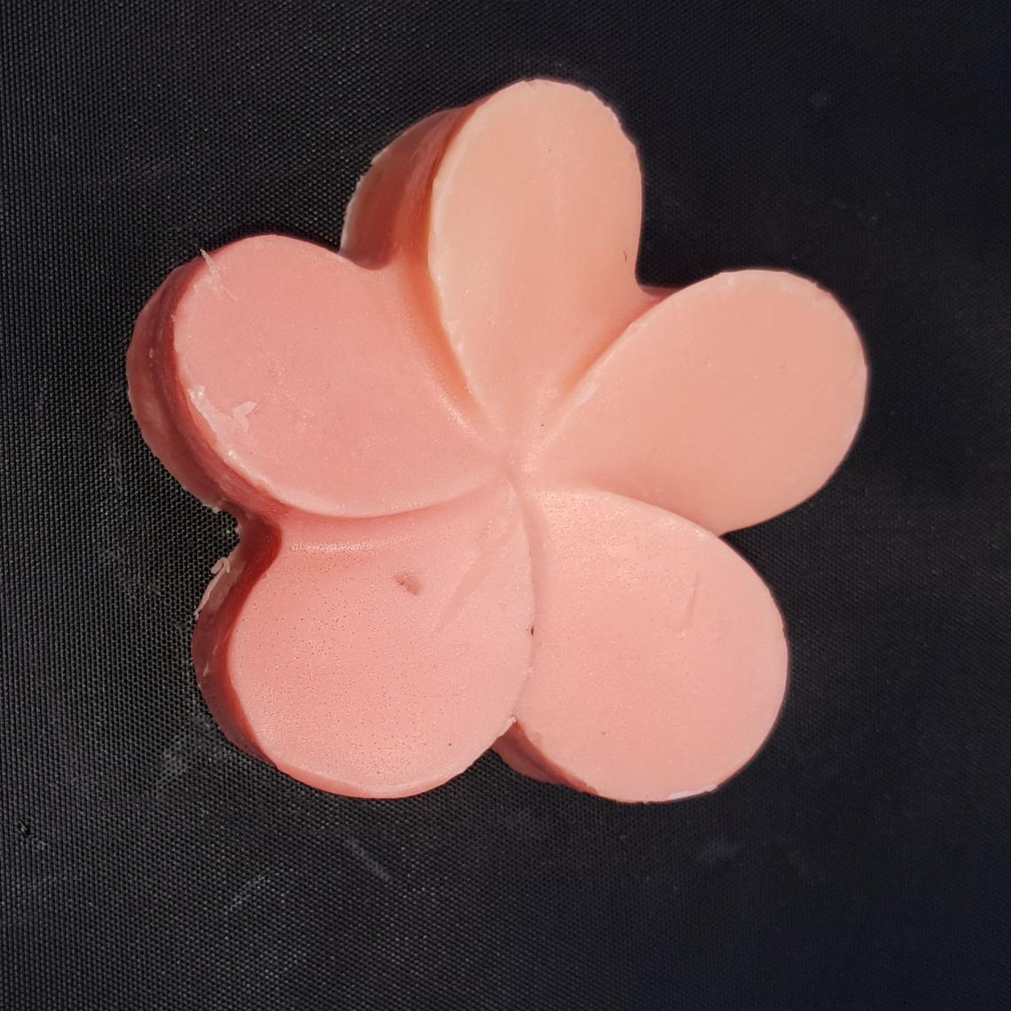 Opaque flower soap.
