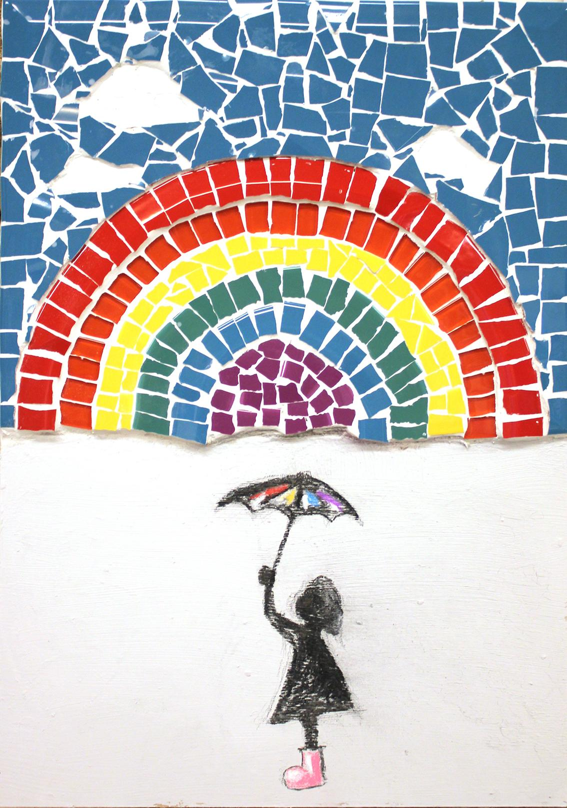 Rainbow Girl Mosaic